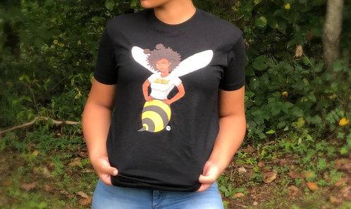 BUMBLE-BEE Women's V-neck