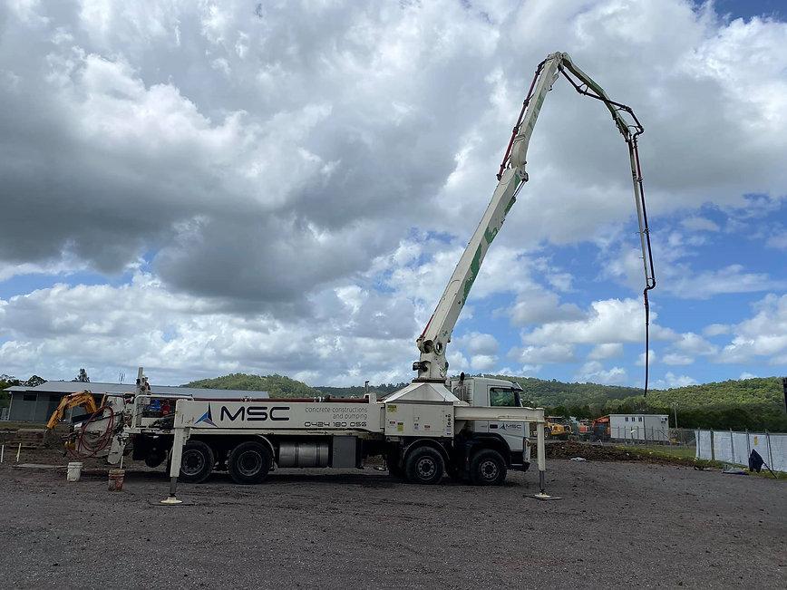 MSC Concrete, concrete pump, concrete pump hire sunshine coast