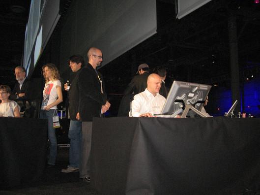 David_L_Brehm_judging_contestants_at_Des