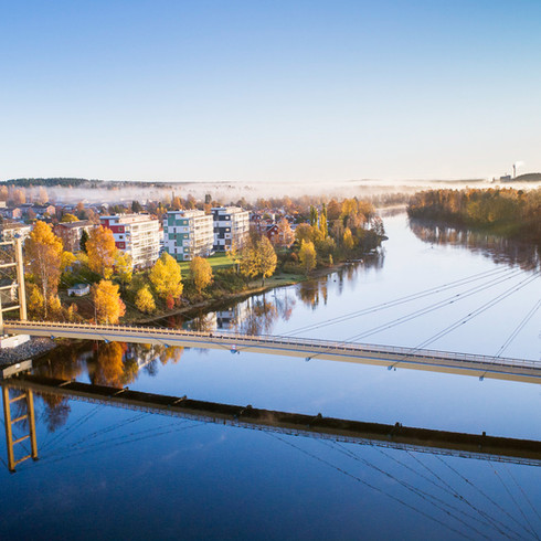 Älvsbackabron i centrala Skellefteå.