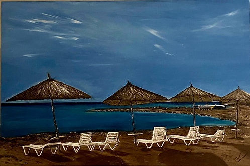 """""""Basking in Greece"""" - Mary McLeod"""