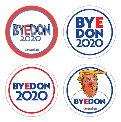BYEDON 2020 Button Collection (Pack of 4)