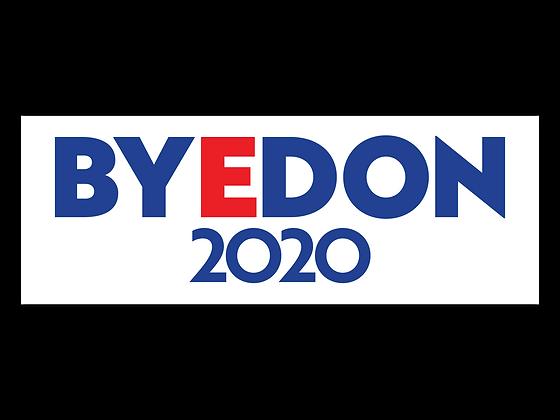 White BYEDON 2020 Bumper Sticker