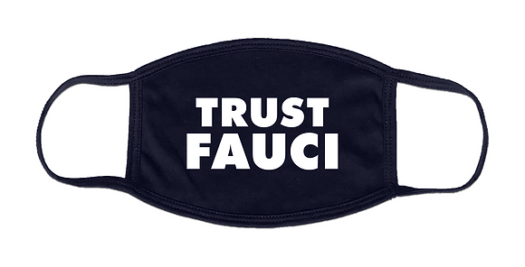 Navy TRUST FAUCI Face Mask