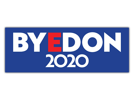 Blue BYEDON 2020 Bumper Sticker