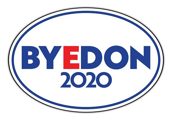 White BYEDON 2020 Magnetic Bumper Sticker