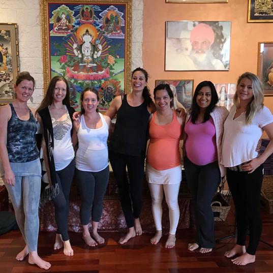 Teaching Prenatal yoga at former Golden Bridge