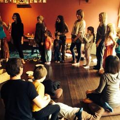 Our Kids for Kirtan Gathering at Bhakti Yoga Shala
