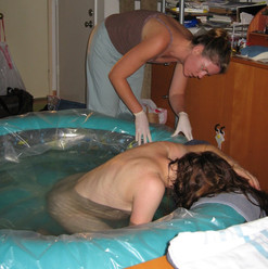 Waterbirth of client