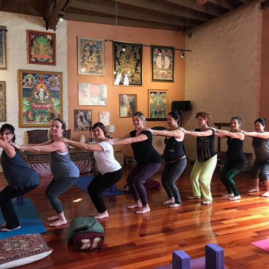 Teaching Prenatal Yoga at Golden Bridge