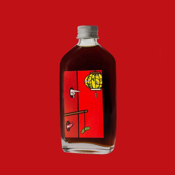 Pre-mixed cocktail bottle label