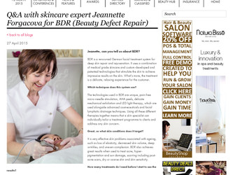 Professional Beauty Magazine interview