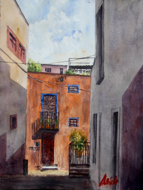 Watercolor on cotton paper, 38 x 28 cm, 2018.  * Naturally painted in Guanajuato, Mexico.  Value: $ 4,100 MXN