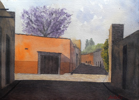 Watercolor on cotton paper, 28 x 38cm, 2018.  * Naturally painted in Guanajuato, Mexico.  Value: $ 4,100 MXN SOLD