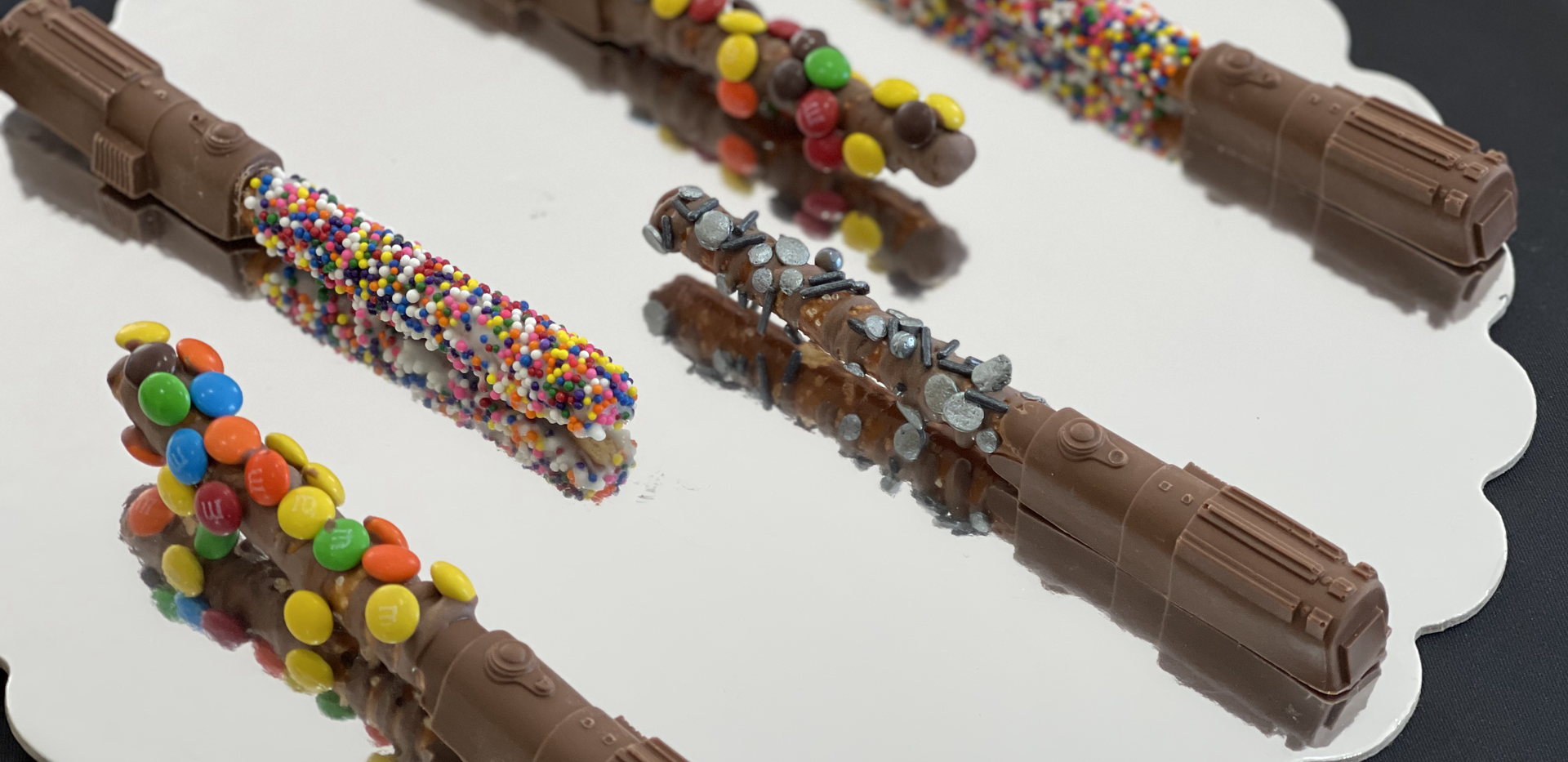 Chocolate Covered Pretzel Lightsabers (Decorated) | $12