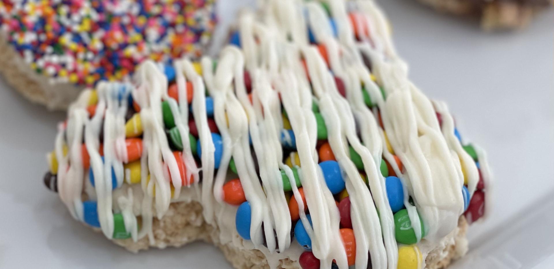 Mickey M&M Rice Krispies Treats (white chocolate)   $24.99