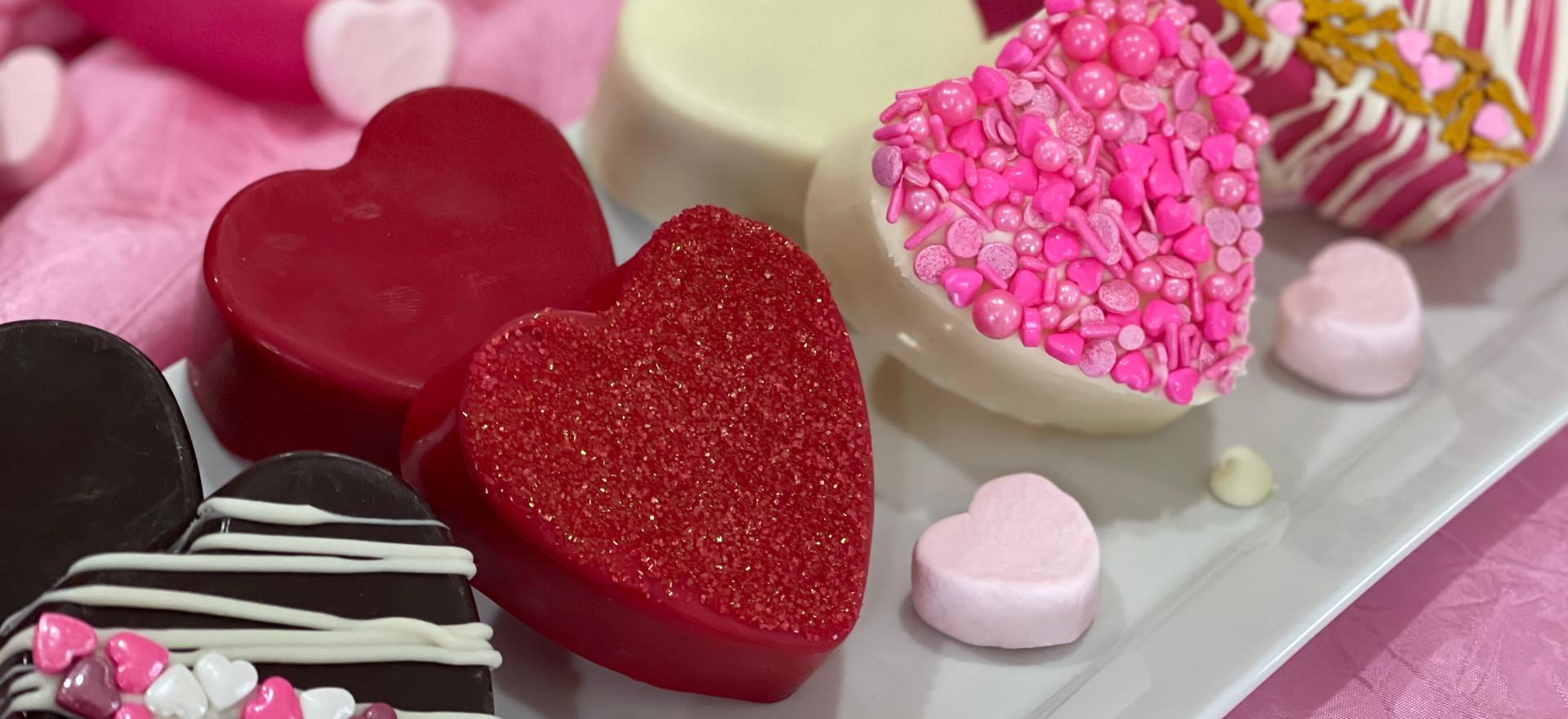 Heart Shaped Cocoa Bombs [Variety Box of 4] | $40