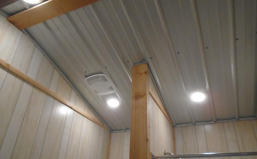 ceiling in bathroom