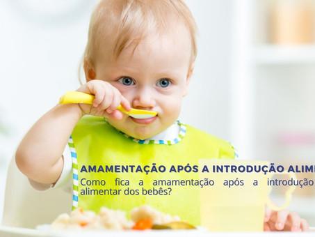 Amamentação após introdução alimentar
