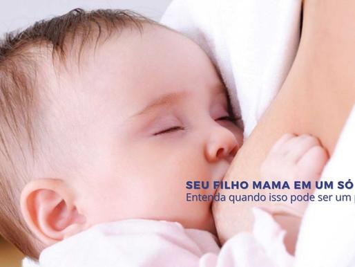 Seu filho mama em um só peito? Entenda quando isso pode ser um problema