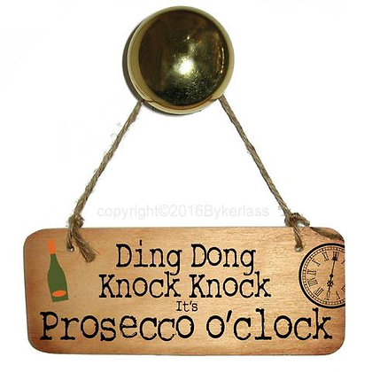 """Ding Dong Knock Knock"" Rustic Sign"