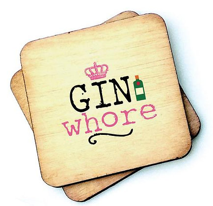 """Gin Whore"" Coaster"