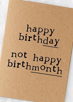 BirthDAY not birthMONTH