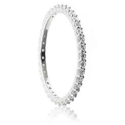Swarovski Crystal Pave Eternity Ring