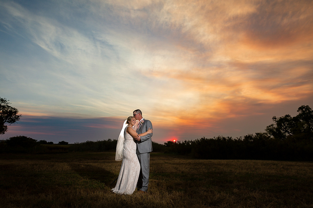 Wyoming Hereford Ranch Wedding Sunset
