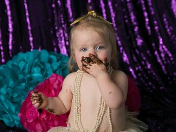 Victoria's 1-Year Cake Smash Colorado Children Photography