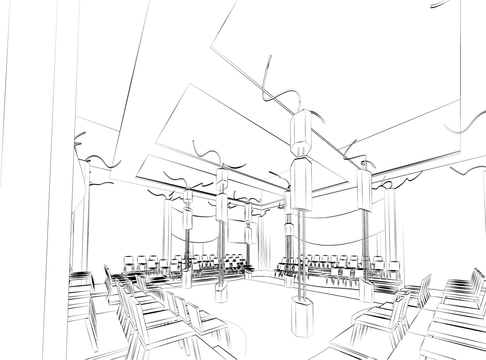 Hamlet - Perspective sketch