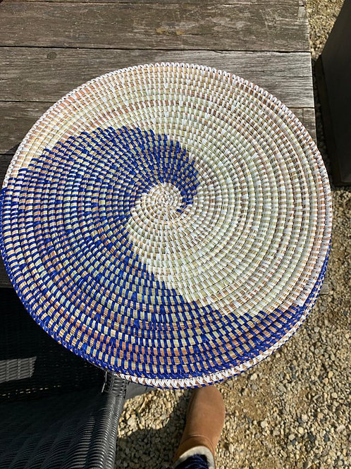 Placemat blauw-wit