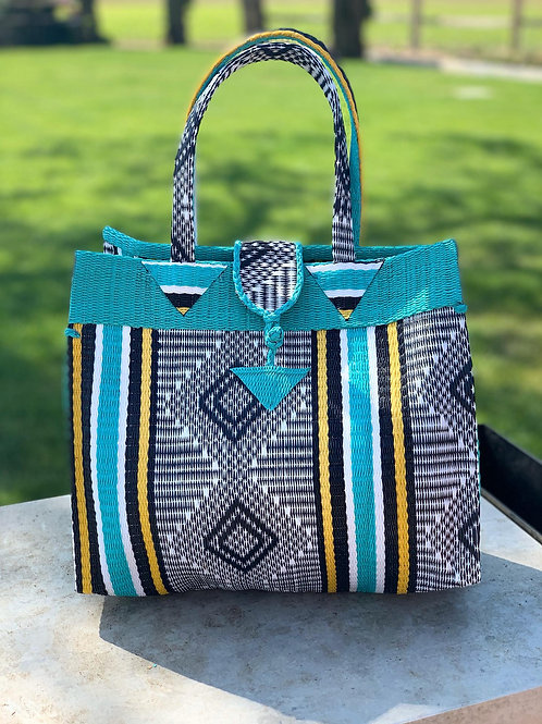 Shopper S Marrakesh blauw-geel
