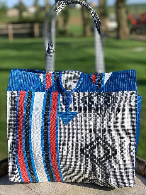 Shopper S Marrakesh blauw-rood