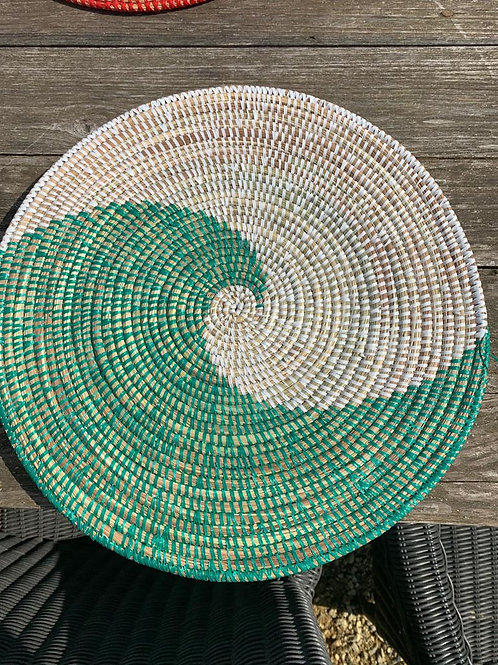 Placemat groen-wit