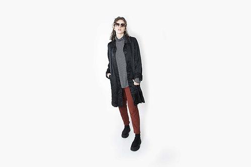 ג׳קט ארוך צווארון (מעיל) שחור