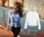 חולצת טי סירה לבנה מקולקציית אביב 2015 ברכה בר און