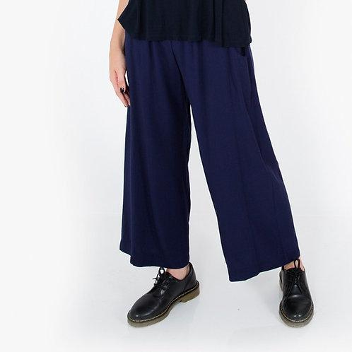 מכנס רחב משולב כחול