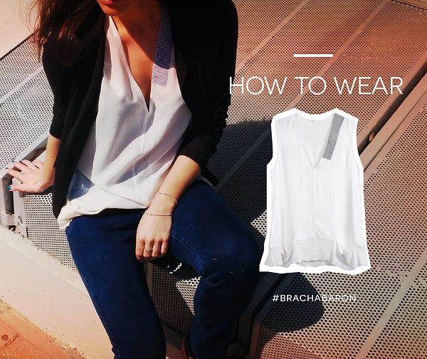 חולצת דולי צ'רלסטון לבנה מקולקציית אביב 2015
