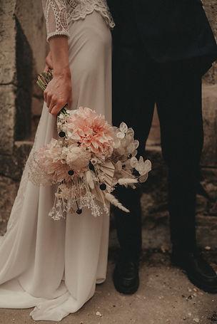 Wedding bouquet Nude Dried flowers