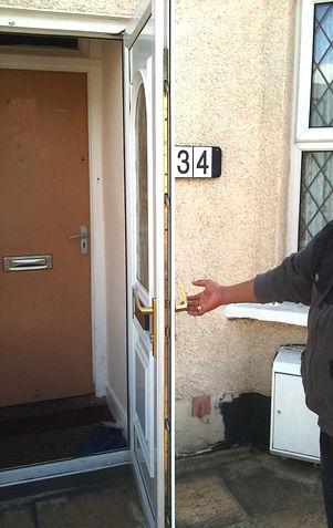 upvc door open