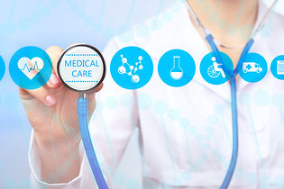 Medical doctor working with healthcare i