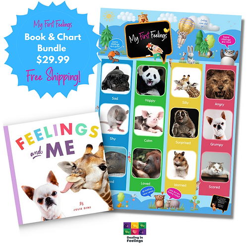 My First Feelings Bundle- Feelings Chart & Feelings and Me book