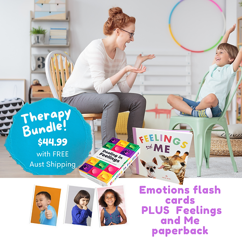 Therapy Bundle with Free Shipping Emotions Cards & Feelings and Me book