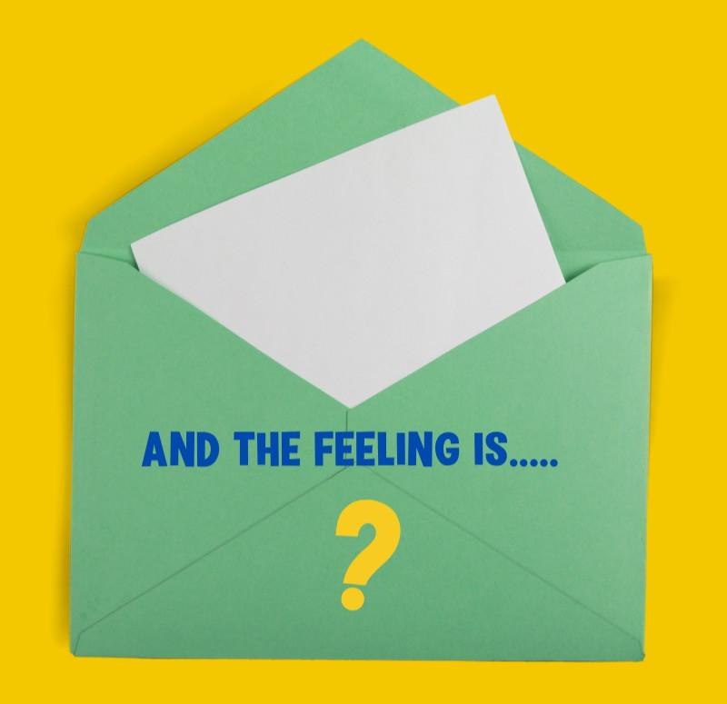 A feelings guessing game using a Feelings envelope