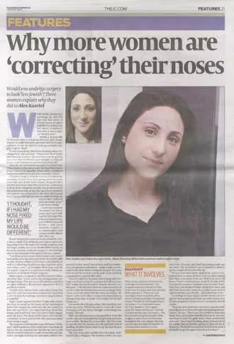 Jewish Chronicle Nose Job