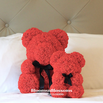 BloomsnBlossoms_RoseBear Red Small and L