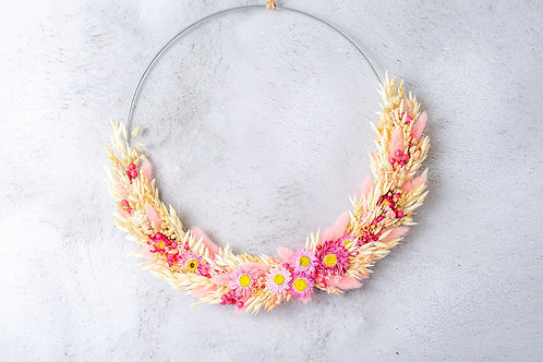 Flower Hoop Touch of Pink