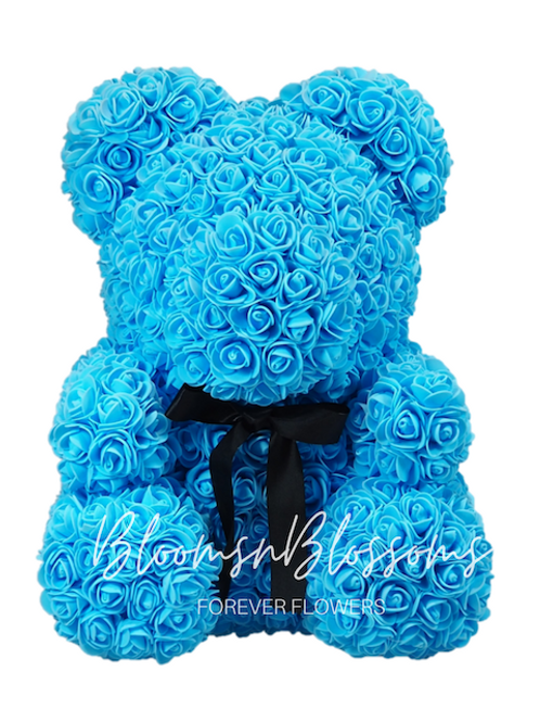 Rose Bear L Ocean Blue