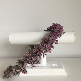 Bloemenkroon Sophie met zachte roze bloemetjes